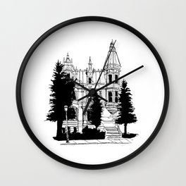 House in Montreal Wall Clock