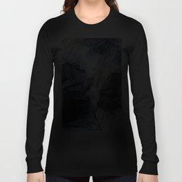 Calm but Dramatic Light Monochromatic Black & Grey Abstract Langarmshirt