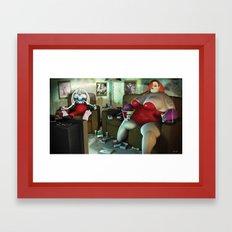 Jess & Roger Framed Art Print