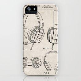 Headphones Patent - Head Phones Art - Antique iPhone Case