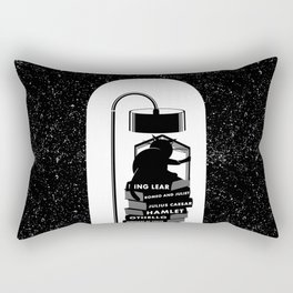 CAT READING SHAKESPEARE Rectangular Pillow