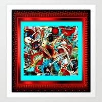 Red Electric Vibe Art Print