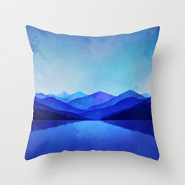 Midnight Blue Throw Pillow