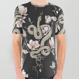 Magnolia and Serpent All Over Graphic Tee