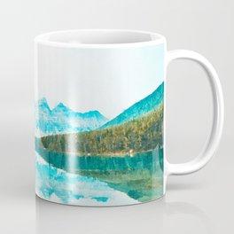 Lake reflections watercolor painting #3 Coffee Mug