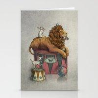 leon Stationery Cards featuring El Leon by julian de narvaez
