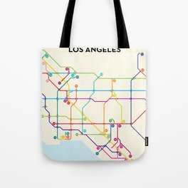 Los Angeles Freeway System Tote Bag