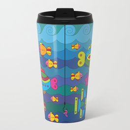 Concept with stylize fantasy fishes under water. Travel Mug
