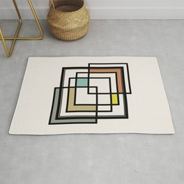 Mid Century Modern Squares Rug