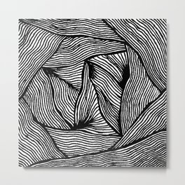 Zentangle #14 Metal Print
