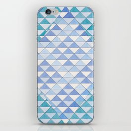 Triangle Pattern No. 9 Shifting Blue and Turquoise iPhone Skin