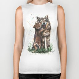 Wolf - Father and Son Biker Tank