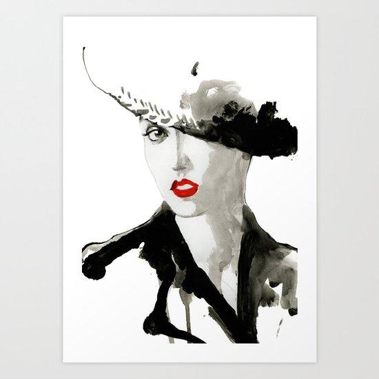 girl jazz 2 Art Print