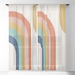 The Sun and a Rainbow Sheer Curtain