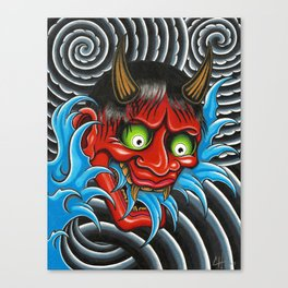 Hannya Mask Canvas Print