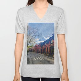 STOP For Brooklyn Heights Brownstone Red Brick Love Unisex V-Neck