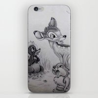 bambi iPhone & iPod Skins featuring Bambi by Lynsie Petig