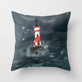 Gust of wind. Throw Pillow