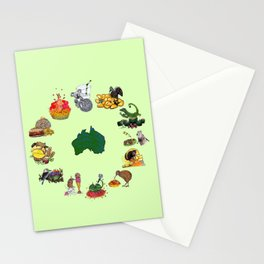 Snacks of Life: Australia Stationery Cards