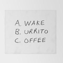 Breakfast Coffee ABC Throw Blanket