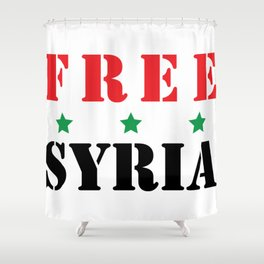 FREE SYRIA Shower Curtain