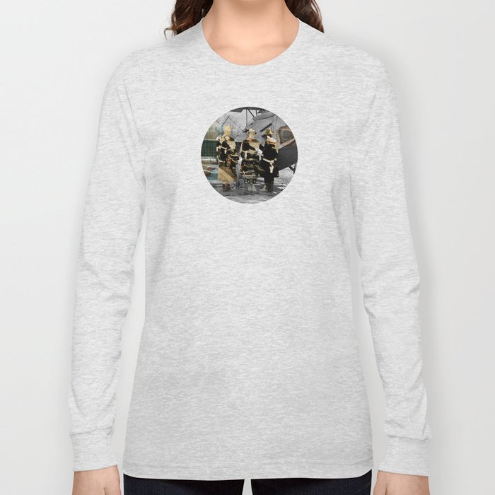 Flying 4 Collage Long Sleeve T-shirt
