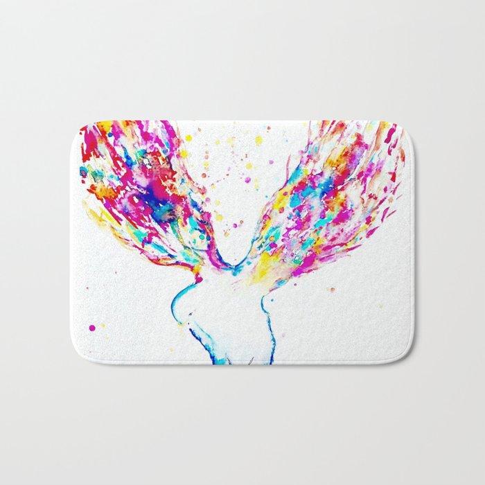 Rainbow Wings Bath Mat