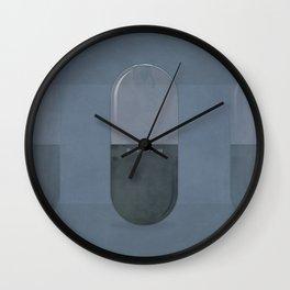 "Aldous Huxley ""Brave New World"" - Minimalist illustration literary design, bookish gift Wall Clock"