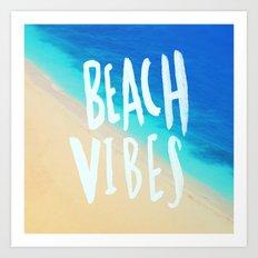 Beach Vibes x Hawaii Art Print