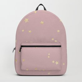 Pretty Pink & Gold Stars Backpack