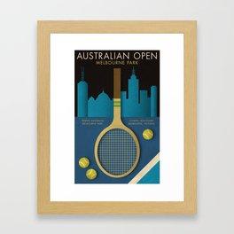 Australian Open tennis poster Framed Art Print