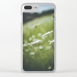 Wild carrot flowers Clear iPhone Case