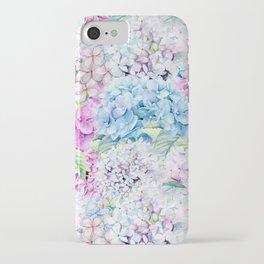 Multicolor Watercolor Hydrangea dream pattern iPhone Case