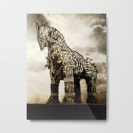 The TROJAN HORSE Metal Print