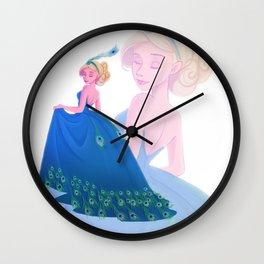 Peacock Dress Wall Clock