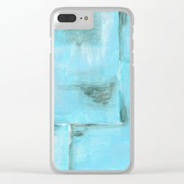 Frost, Abstract Art Painting Clear iPhone Case