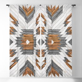 Urban Tribal Pattern No.8 - Aztec - Wood Blackout Curtain