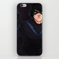 nightwing iPhone & iPod Skins featuring Nightwing by hazetty