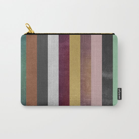 Stripe Combination Carry-All Pouch