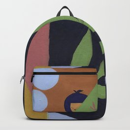Acrylic Girl Pattern Backpack