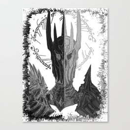 Two faces of Sauron Canvas Print