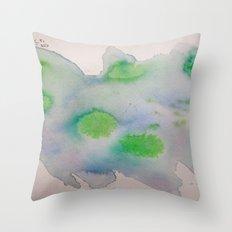 Lime Burst Throw Pillow