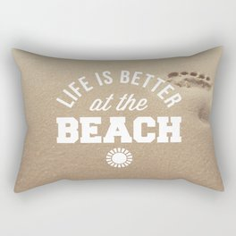 Better At The Beach Quote Rectangular Pillow