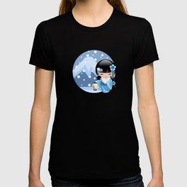 Japanese Winter Kokeshi Doll at Blue Mountain T-shirt