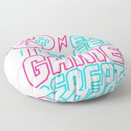 Eat Sleep Game Repeat Funny  Gift For Gamers Floor Pillow