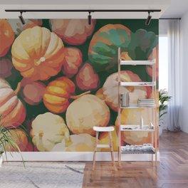 Pumpkins - fall - autumn - halloween - october - vegatable - cuisine - chef Wall Mural