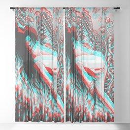 Dissociaton Resurrection Sheer Curtain