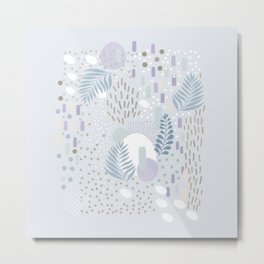 Close to Nature - Simple Doodle Pattern 2 #society6 #pattern #nature Metal Print