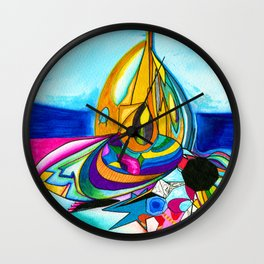 The Beehive of Life Wall Clock