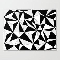 Geo - gray, black and white. Canvas Print